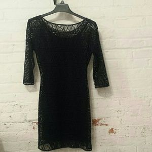 EXPRESS Crocheted Black Dress Size S New w/out tag